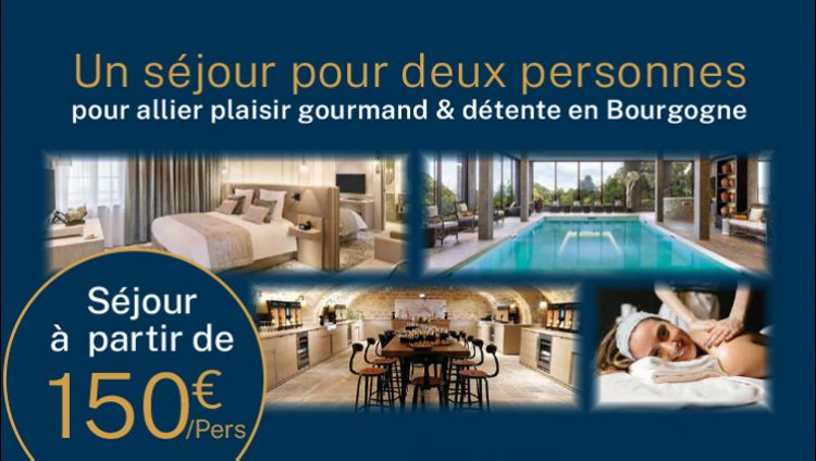 Pleasure and relaxation stay in Burgundy at very affordable prices!